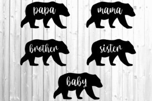 Matching Family Bear Graphic Crafts By EmilyysCreations