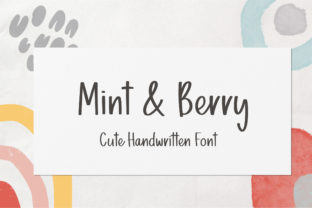 Print on Demand: Mint & Berry Script & Handwritten Font By sunday nomad