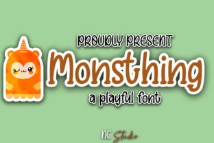 Print on Demand: Monsthing Display Font By Nahda Creative