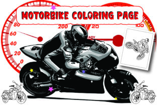 Motorbike Coloring Pages Vol-2 Graphic Coloring Pages & Books Kids By Moonz Coloring