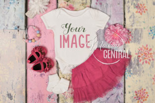 Pretty Baby Girl's Bodysuit Mockup JPG Graphic Product Mockups By Mockup Central