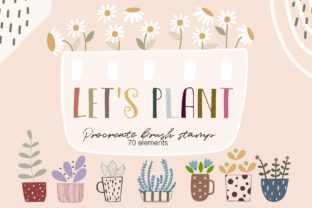 Print on Demand: Procreate Brush Stamp Let's Plant 70 Ele Graphic Brushes By Pui Pui