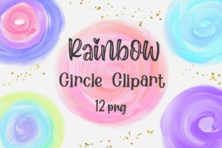 Print on Demand: Rainbow Circle Clipart Graphic Backgrounds By PinkPearly