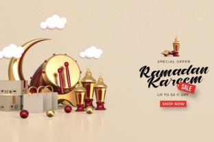 Ramadan Kareem Sale Banner Template Graphic Illustrations By Mian Aqib Badshah