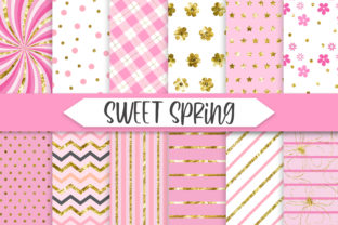 Print on Demand: Sweet Spring Glitter Background Graphic Backgrounds By PinkPearly