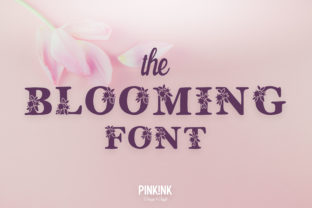 Print on Demand: The Blooming Color Fonts Font By pinkinkonline