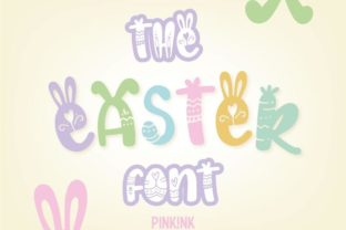 Print on Demand: The Easter Color Fonts Font By pinkinkonline