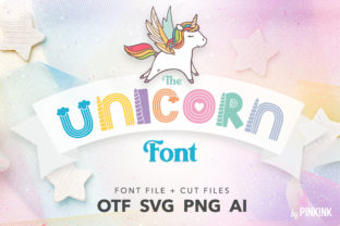 Print on Demand: The Unicorn Color Fonts Font By pinkinkonline