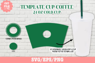 Tumbler Template Venti 24 Oz Cup Svg. Graphic Crafts By CREATIVE O.K.N 1