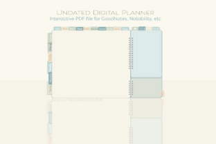 Undated Digital Planner IPad Goodnotes Graphic Graphic Templates By feelartfeelant