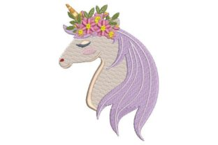 Unicorn Head with Flower Crown Fairy Tales Embroidery Design By Embroidery Designs