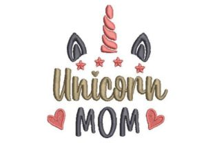 Unicorn Mom Mother's Day Embroidery Design By Embroidery Designs