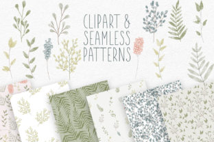 Print on Demand: Watercolor Clipart and Seamless Patterns Graphic Illustrations By illuztrate