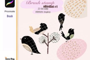 Procreate 22 D.I.y. Bird Brush Stamps Graphic Brushes By NanoDog-shop