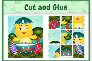 A Chick Easter Animal 2 - Cut and Glue Graphic 5th grade By wijayariko