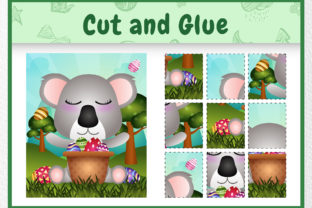 A Koala Easter Animal 4 - Cut and Glue Graphic 5th grade By wijayariko