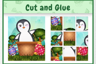 A Penguin Easter Animal 3 - Cut and Glue Graphic 5th grade By wijayariko