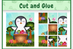 A Penguin Easter Animal 4 - Cut and Glue Graphic 5th grade By wijayariko