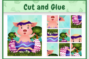 A Pig Easter Animal 2 - Cut and Glue Graphic 5th grade By wijayariko