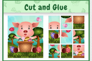 A Pig Easter Animal 4 - Cut and Glue Graphic 5th grade By wijayariko
