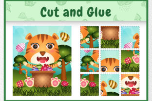 A Tiger Easter Animal 4 - Cut and Glue Graphic 5th grade By wijayariko