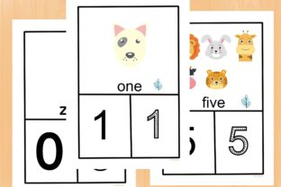 Animal Counting and Handwriting Practice Graphic PreK By AfifShop