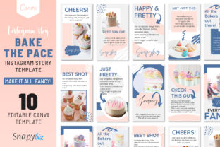 Print on Demand: Bake the Pace Instagram Story Template Graphic Presentation Templates By SnapyBiz