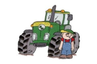Big Boyz Tractor Work & Occupation Embroidery Design By Sew Terific Designs