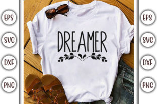 Print on Demand: Boho Quotes Design, Dreamer Graphic Print Templates By GraphicsBooth