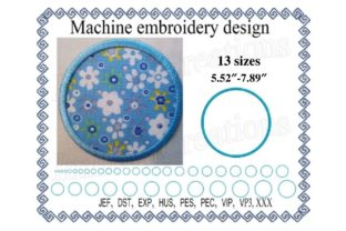 Circle Applique Shapes Embroidery Design By ImilovaCreations