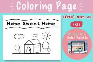 Coloring Page - Home_Sweet_Home Graphic Coloring Pages & Books Kids By jennythip