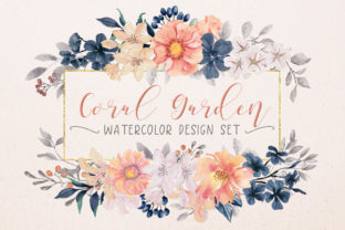 Coral Garden Watercolor Collection Graphic Illustrations By Lolly's Lane Shoppe