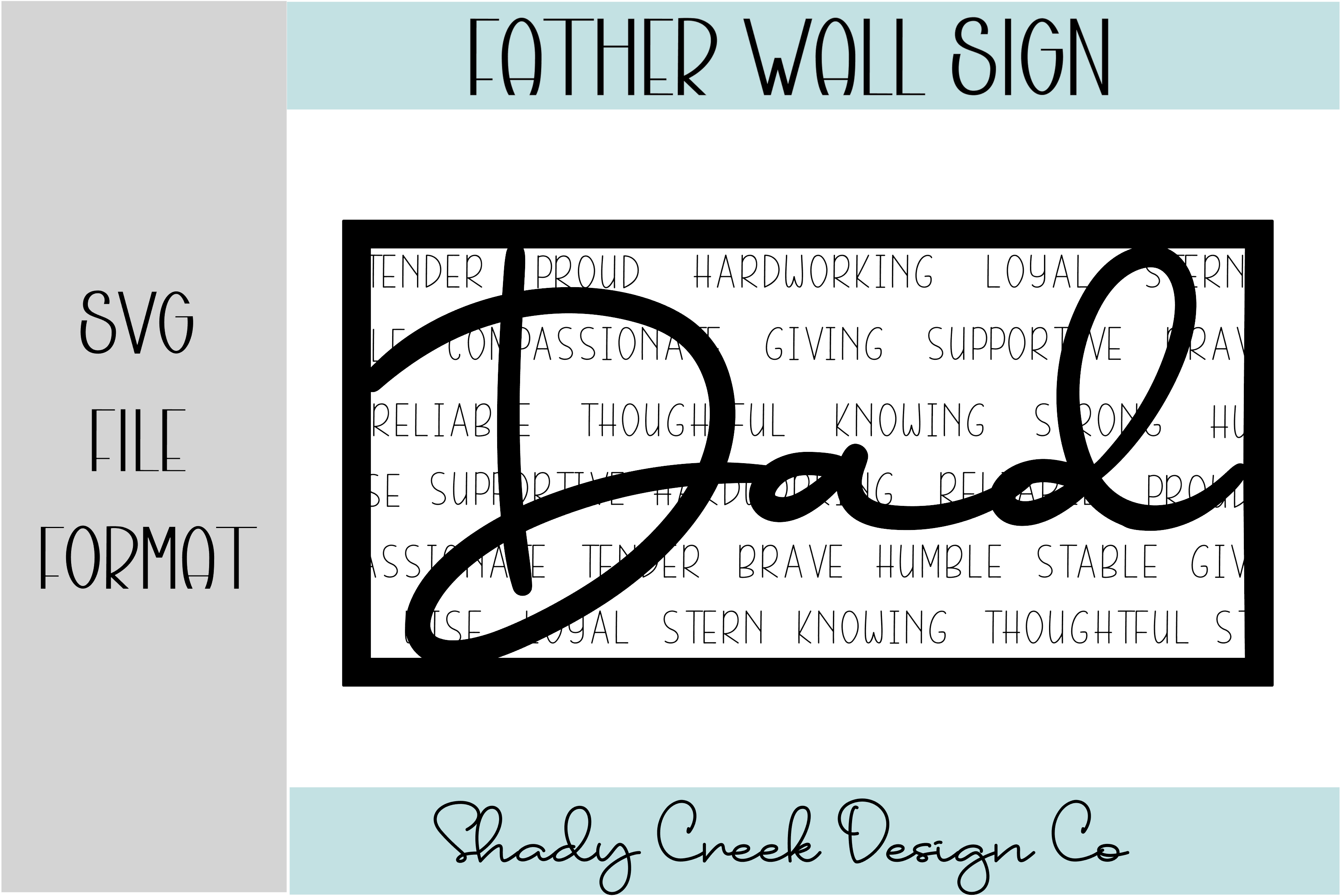 Dad Wall Sign SVG File