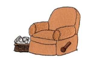 Dad's Chair Father Embroidery Design By Sew Terific Designs