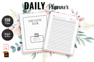 Print on Demand: Daily Planner KDP Interior Graphic Graphic KDP Interiors By rowshonarabegum1975.bd