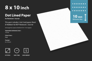 Digital Dot Lined Paper 10mm Graphic Print Templates By CreativeKdp