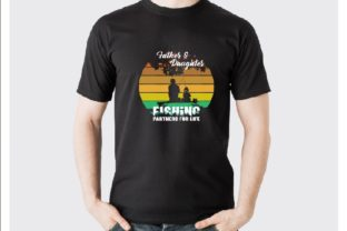 Father and Daughter Fishing Partner Graphic Print Templates By arafathossain1012