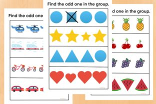 Find the Odd One in the Group Graphic PreK By AfifShop 1