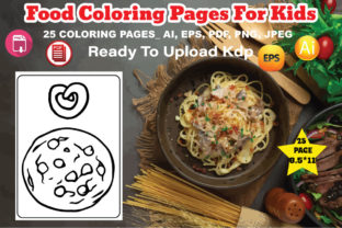 Food Coloring Pages for Kids Graphic Coloring Pages & Books Kids By design_Hutt