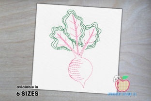 Fresh Organic Beets Bean Stitch Back to School Embroidery Design By embroiderydesigns101