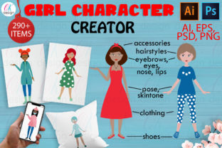 Girl Character CREATOR Graphic Illustrations By OK-Design