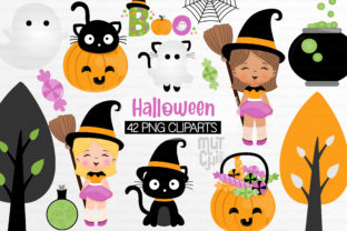 Halloween Cliparts Graphic Illustrations By Mutchi Design
