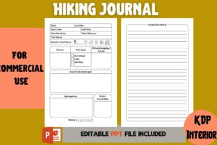 Print on Demand: Hiking Journal | KDP Interior Graphic KDP Interiors By Cool Worker