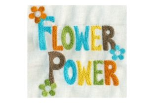 Hippie Flower Power Outdoor Quotes Embroidery Design By Sew Terific Designs