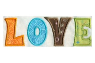 Hippie Love Applique Summer Embroidery Design By Sew Terific Designs