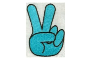 Hippie Peace Hand Sign Awareness Embroidery Design By Sew Terific Designs