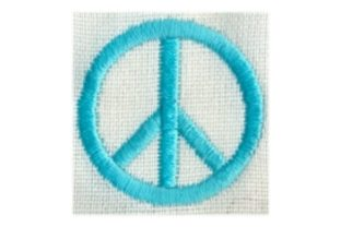 Hippie Peace Sign Awareness Embroidery Design By Sew Terific Designs