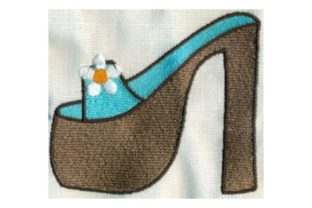 Hippie Platform Shoe Clothing Embroidery Design By Sew Terific Designs