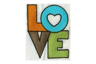 Hippie Stacked Love Summer Embroidery Design By Sew Terific Designs