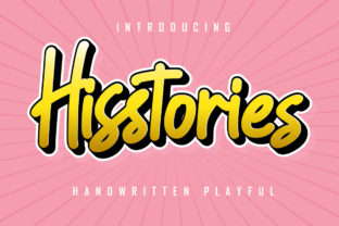 Print on Demand: Hisstories Script & Handwritten Font By Skiiller Studio